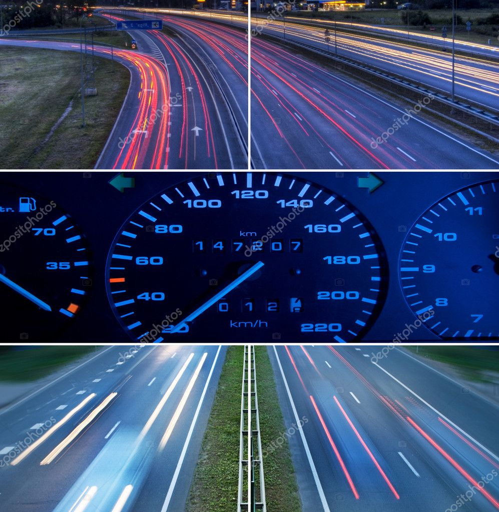 Speed highway collage — Stock Photo #1728785