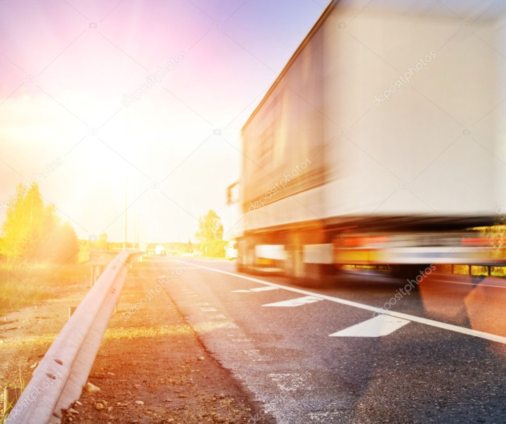 Fast moving truck — Stock Photo #1728794