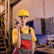 Royalty-Free Stock Photo: Factory worker talking on the phone