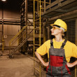 Female factory worker — Stock Photo