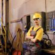 Female factory worker — Stock Photo #1740608