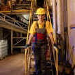 Factory female worker — Stock Photo
