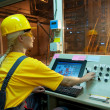 Stock Photo: Factory operator