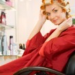 Young woman in beauty salon — Foto Stock
