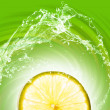 Lime slice on abstract background — Stock Photo