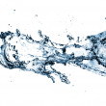 Stylish water splash — Stock Photo