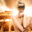 Beautiful woman in front of Colosseum - Photo