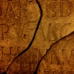 Roman letters texture — Stock Photo #1741667