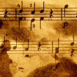 Grungy musical background - Stock Photo
