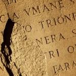 Roman letters texture — Stock Photo