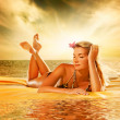 Beautiful young woman relaxing - Stock Photo