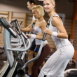 Group of jogging in a gym — Stock Photo #1746770