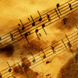 Grungy musical background — Stock Photo