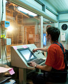Factory operator at work — Stock Photo