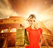 Shopping in Italy — Stock Photo