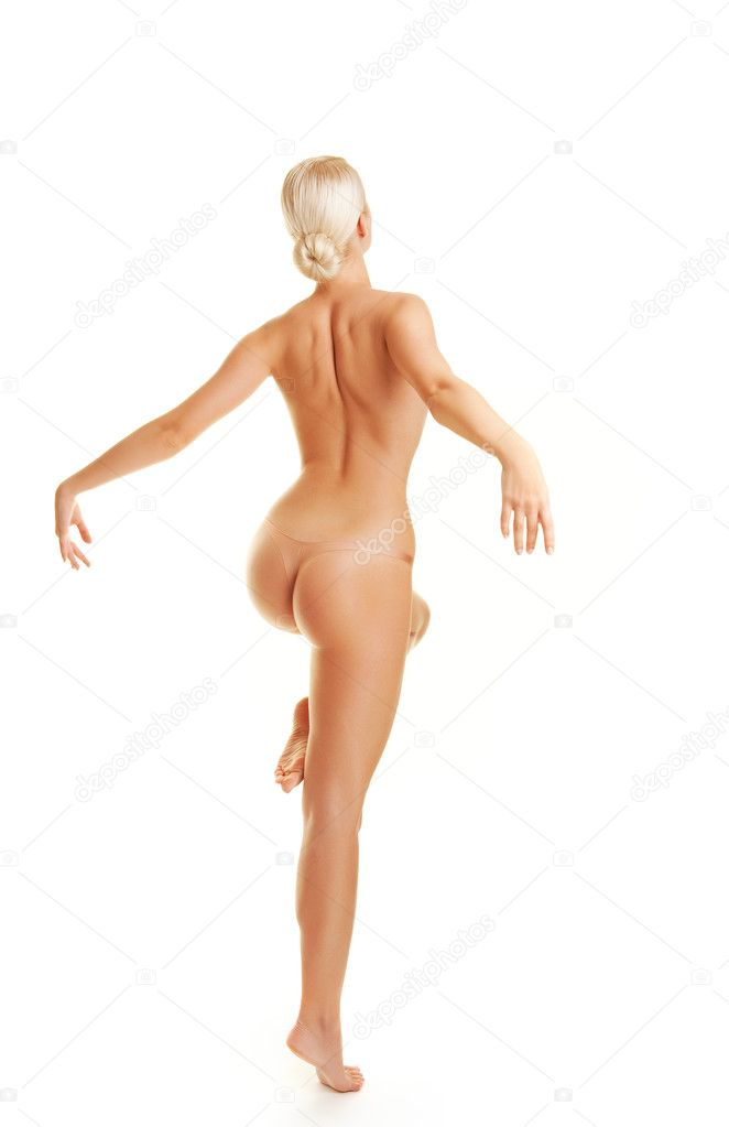 Beautiful young woman dancing naked  Stock Photo #1740798