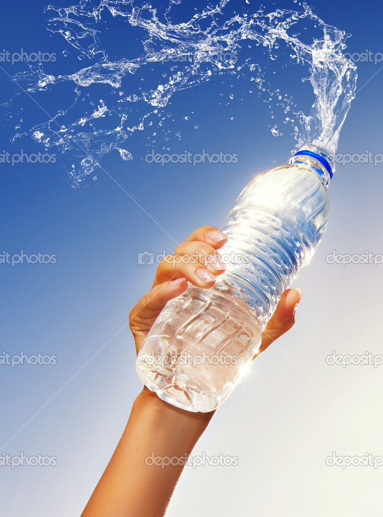 Human Hand Holding A Bottle Of Water Stock Photo 1741161