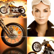 Biker collage - Stock Photo