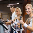 Group of jogging in a gym — Stock Photo