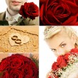 Bridal collage — Stock Photo