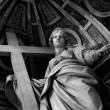 Statue in St. Peter Basilica (Vatican) - Stock Photo