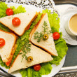 Fresh and tasty home-made canape — Stock Photo