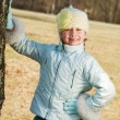 Happy toothless girl outdoors — Stock Photo #2082645