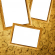 Picture frames on a wall - Stock Photo