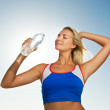 Beautiful fitness trainer - Stock Photo