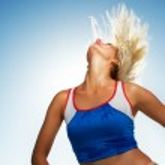 Beautiful fitness trainer — Stock Photo #2083152