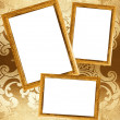 Picture frames on a wall — Stock Photo