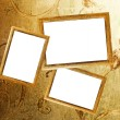 Stock Photo: Picture frames on a wall