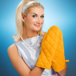 Funny housewife — Stock Photo