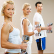Doing fitness exercise — Stock Photo #2083766