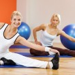 Doing stretching exercise — Stock Photo #2083806