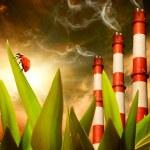 Ecology in danger — Stock Photo
