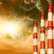 Power plants. Global warming concept — Stock Photo