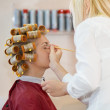 Stock Photo: Young woman in beauty salon