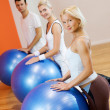 Group of doing fitness exercise — Стоковое фото