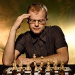 Thoughtful chess master — Stok Fotoğraf #2084499