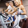Group of jogging in a gym — Stock Photo #2084875