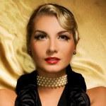 Lovely woman retro portrait — Stock Photo #2085253