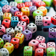 Stock Photo: Colorful dices background