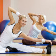 Doing stretching exercise — Stock Photo #2085911