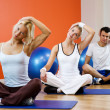 Group of doing yoga exercise — Stock Photo #2085920