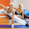 Group of doing fitness exercise - 