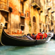 Traditional Venice gandola ride - ストック写真