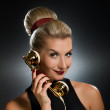 Lovely woman talking on the phone — Stock Photo