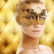 Beautiful woman in carnival mask — Stock Photo #2086334