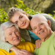 Stock Photo: Grandparents with granddaughter
